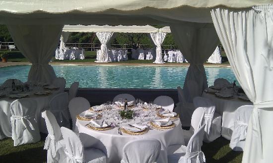 Agriturismo Il Casale degli Olivi: Hochzeitsdeko