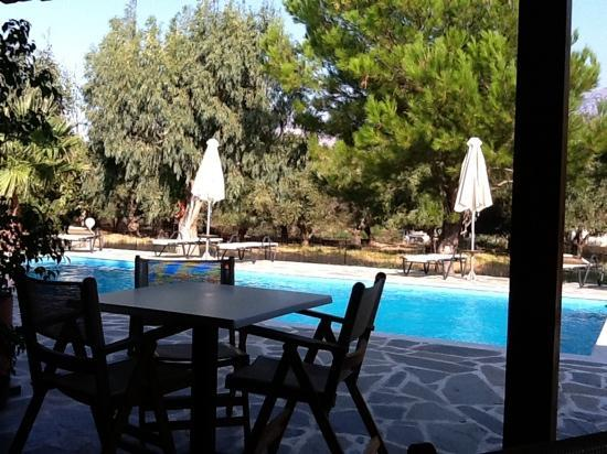 Hotel Irida Plakias: from breakfast table