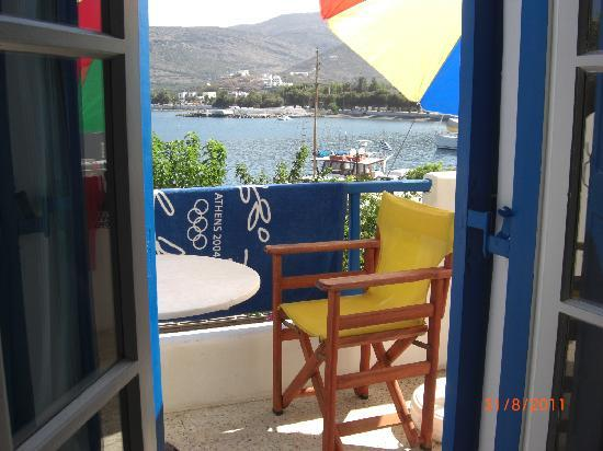 Katapola, Greece: The balcony & view