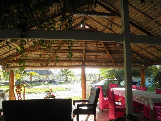 Tarawa Atoll, Republiek Kiribati: Patio for relaxing