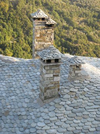 Arhontika Saltis: Slate roof an interesting chimneys from the window