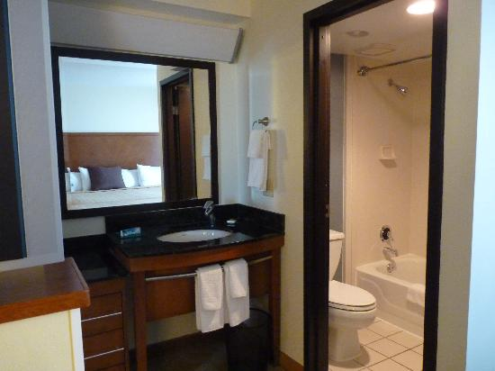 Hyatt Place Louisville-East: view of sink and opening of bathroom