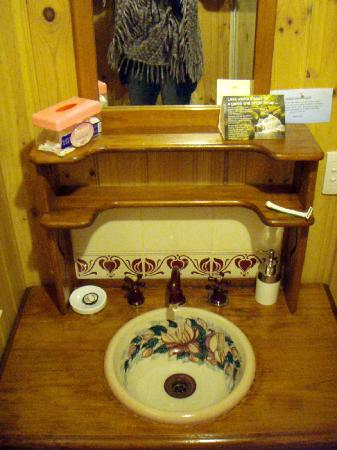 "Peppertree Cottage: basin in ""Rose"" apartment"