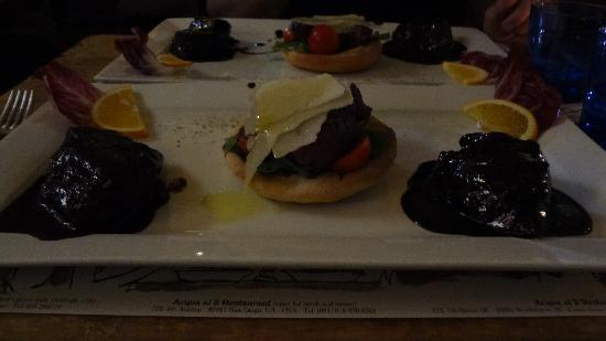 Acqua Al 2: Beef 3 ways, could have been a better picture