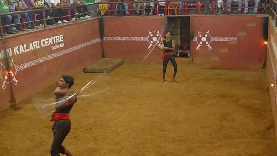 Kadathanadan Kalari  & Navarasa Kathakali : Stick fight