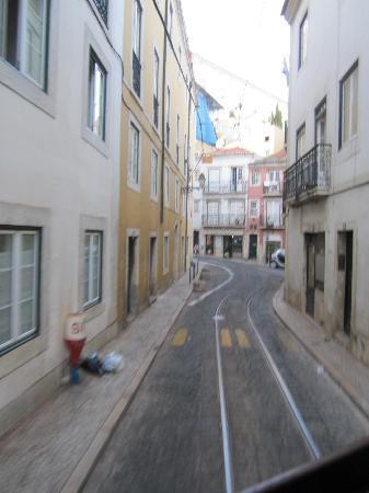 Tram 28: streets of alfama the tram passes