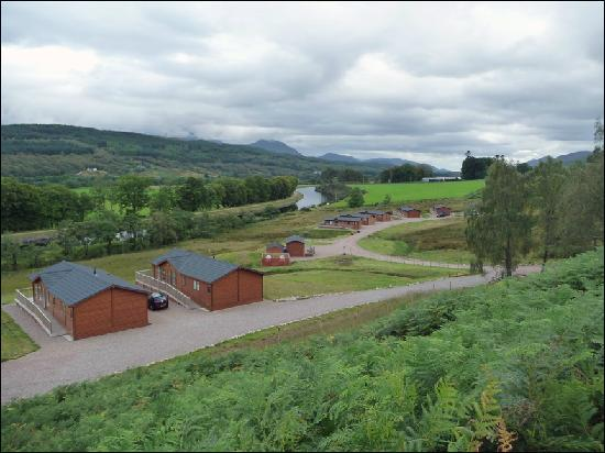 Lochaber Lodges: View from the Road