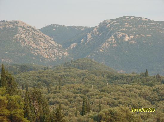 Roda, Greece: view of back from room 3
