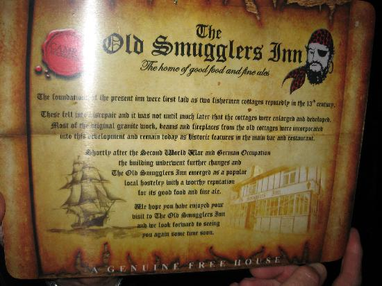 Old Smugglers Inn: A piece of history