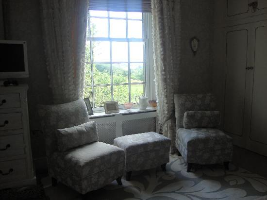 Brook House: The sitting area in our room, overlooking the Yorkshire moors