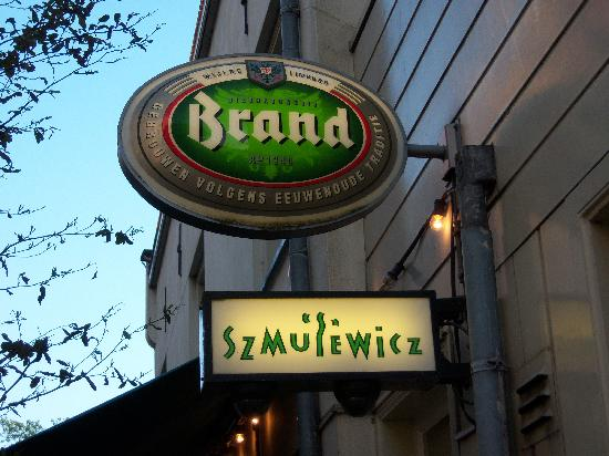 Restaurant Szmulewicz: Restaurant sign