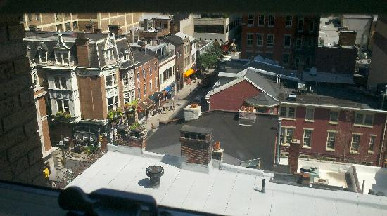 AKA Rittenhouse Square: View from the bedroom (back of the hotel)