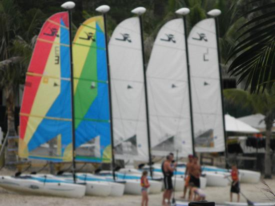 Club Med Sandpiper Bay: boats along the river