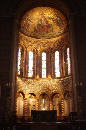 Church of St. Mary and St. Nicholas: Mosaic of Christ, Mary and St Nicholas