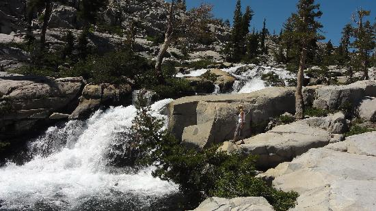 Echo Lakes Hiking Trail: Secluded Waterfall