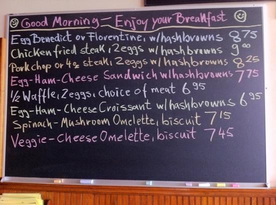 Old German Bakery and Restaurant: special board for breakfast