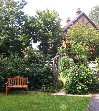 The Lawn Guest House: approaching the garden