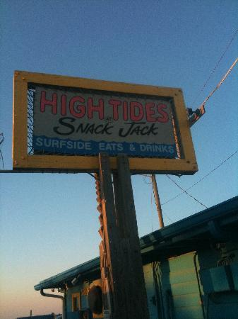 High Tides at Snack Jack: Look for the sign!