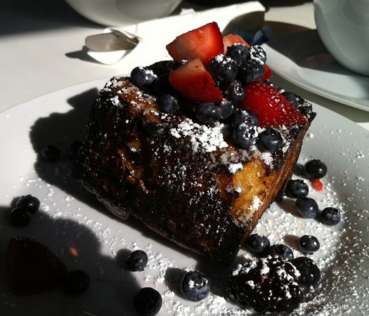 Hangar B Eatery: Chocolate Chip French Toast-worth the visit