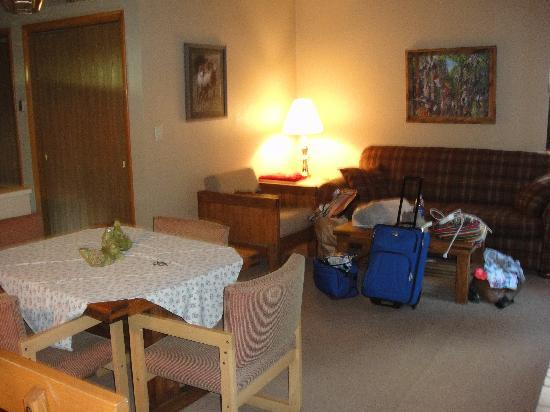 Castle Mountain Lodge : living room area
