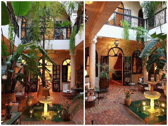 Riad Bamaga Hotel: Patio jardin