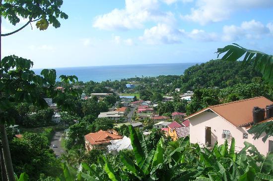 Bel Jou Hotel: view from the hotel garden boardwalk