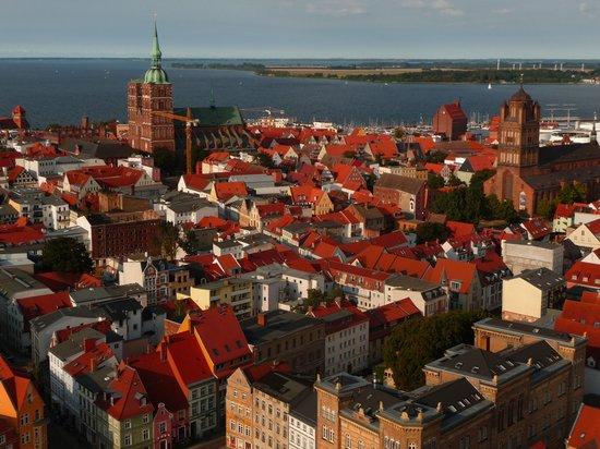 St. Marienkirche : panorama sul mare