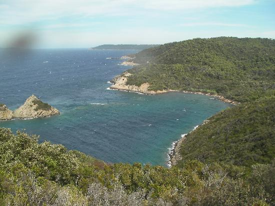 Hyeres, Frankrike: View on the walk to the snorkelling beach at Port Cros