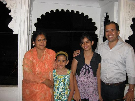 O'zen: Jaideep and Nitika Singh (owners) and daughters