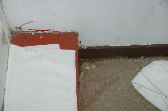 D' Beach Street Lodge: stairs to bath/shower room