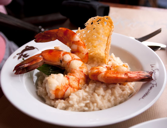 Le Square Trousseau: Risotto with gambas