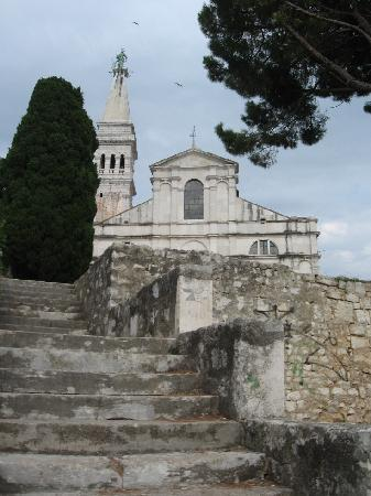Rovinj, Croácia: The church of St. Eufemia