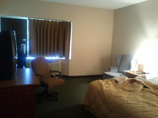 Comfort Inn Carrier Circle : Bedroom, facing door to parking lot.