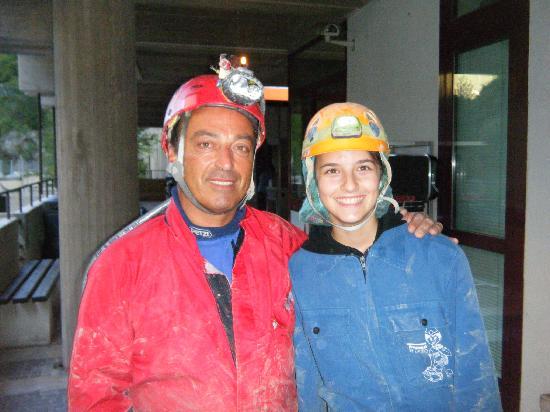 Marche, Italia: Assieme alla simpaticissima guida che ci ha accompagnato