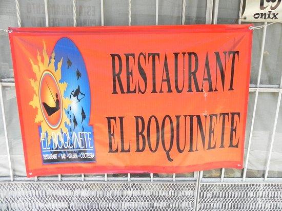 El Boquinete: Restaurant sign