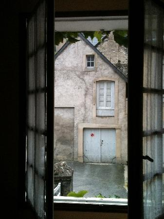 Hotel Les Templiers : View from my hotel room.  Very old school French.