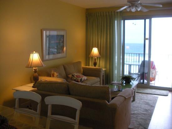 Leeward Key Condominiums: the living room of condo #605