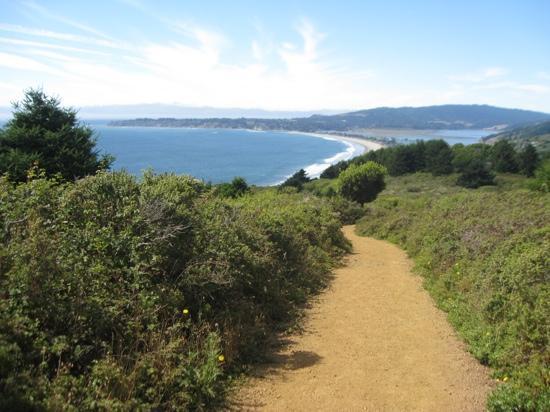 Sandpiper Inn: Dipsea Trail vue sur Stinson beach