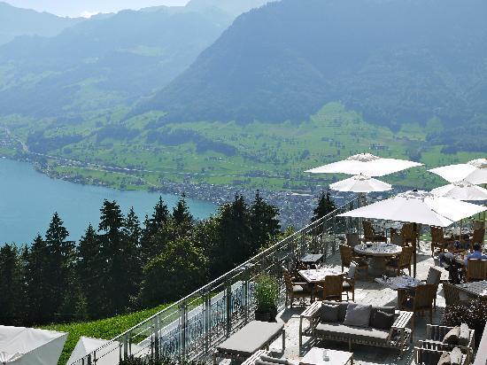 Hotel Villa Honegg: Terasse des Restaurants