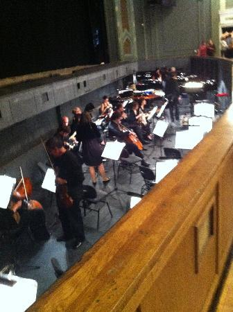 Bolschoi-Theater: The Orchestra pit.  The conductor is visible thru out the performance which is entertainment in