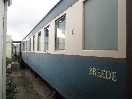 African Train Lodge: The train car where our room is located