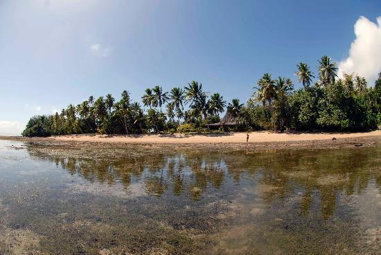 Beqa Lagoon Resort: The resort during low tide