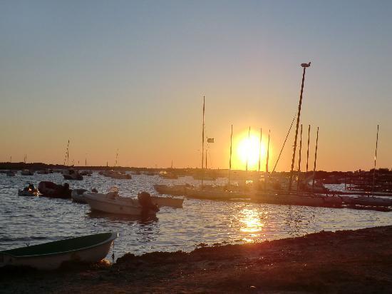 Hotel Bahia: atardecer desde el Estany des Peix