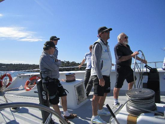 Explore Sailing - America's Cup Sailing Experience: Under a very capable crews supervision.