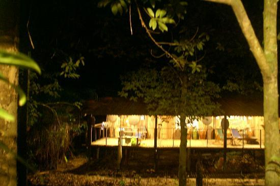 The Kebun: Longhouse in evening