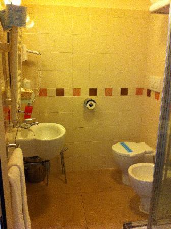 Hotel Perseo: small bathroom