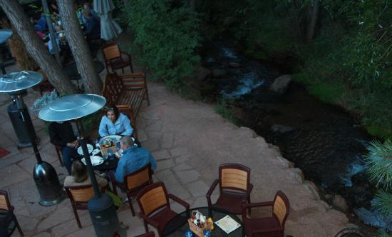 The Wines of Colorado : creekside seating
