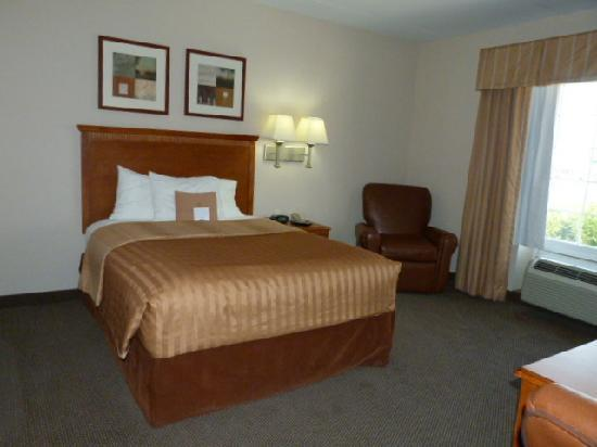 Candlewood Suites-Omaha Airport: Queen bed/Recliner in Suite