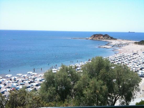 Rodos Princess Beach Hotel: spiaggia dall'albergo