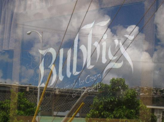 Bubbies Homemade Ice Cream : the bubbies sign